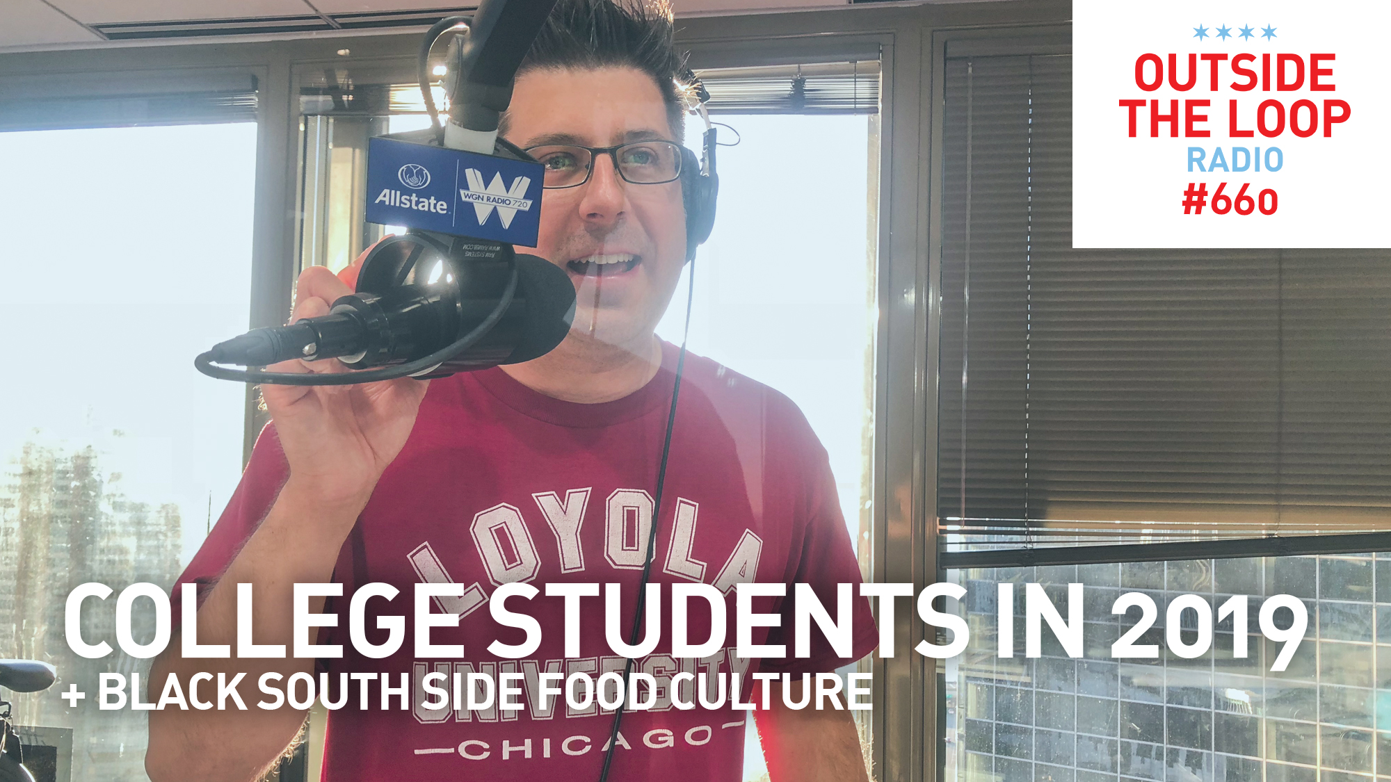 Mike Stephen discusses the state of college students in 2019 while representing his alma mater Loyola University Chicago.