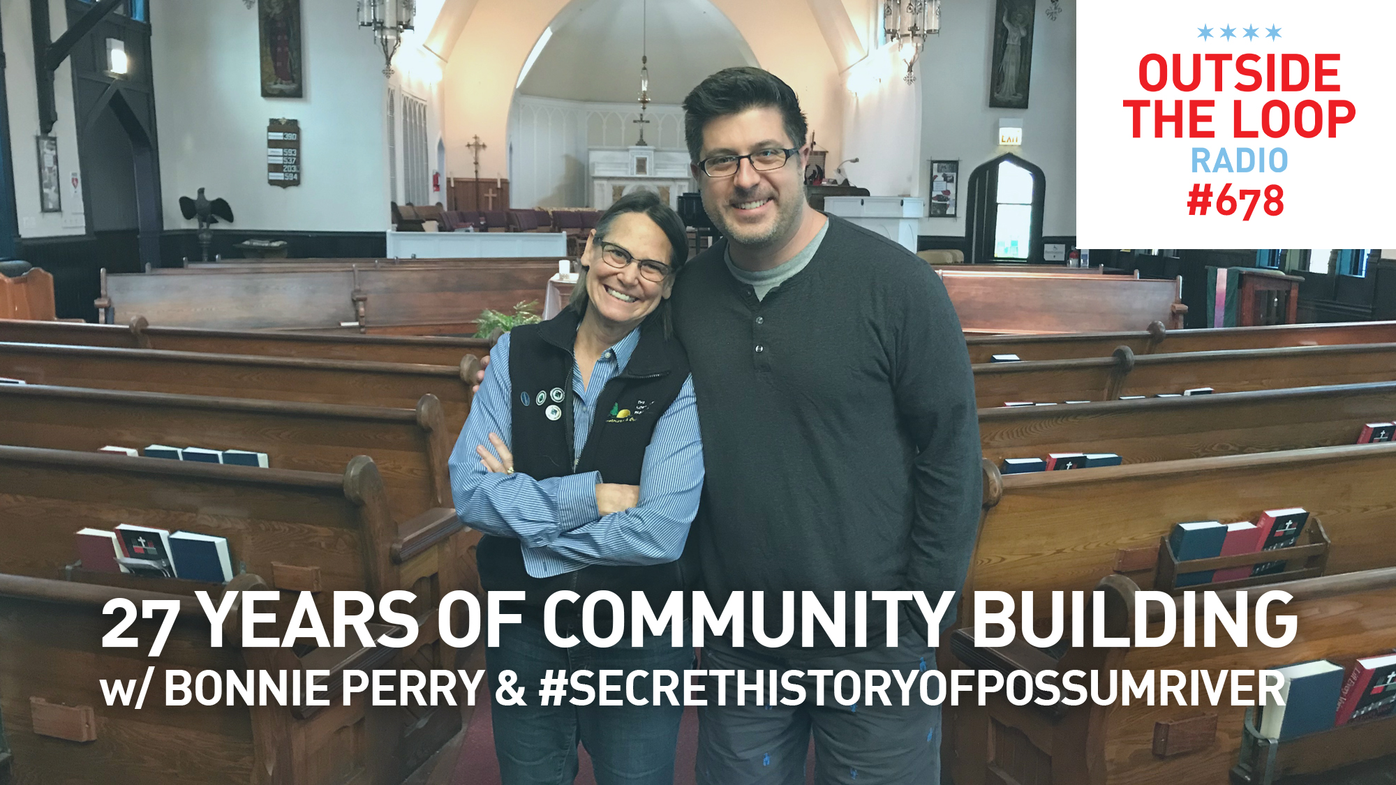 Rev. Bonnie Perry and Mike Stephen at All Saints Episcopal Church in Chicago's Ravenswood neighborhood.