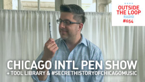 Mike Stephen loves pens.