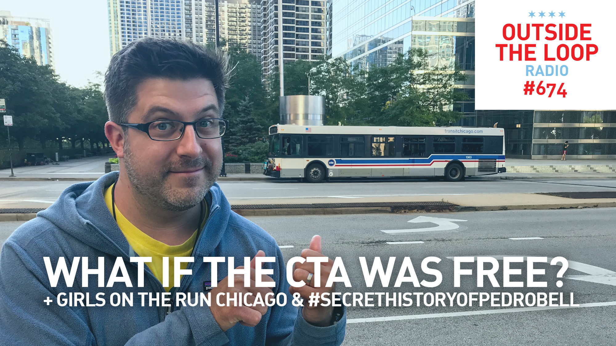 Mike Stephen and a lovely CTA bus.