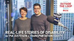 Author and human rights lawyer Pia Justesen and Mike Stephen in the WGN Skyline Studio.