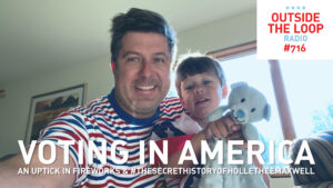 Mike Stephen and his son Joey celebrate the 4th of July early on Saturday morning.