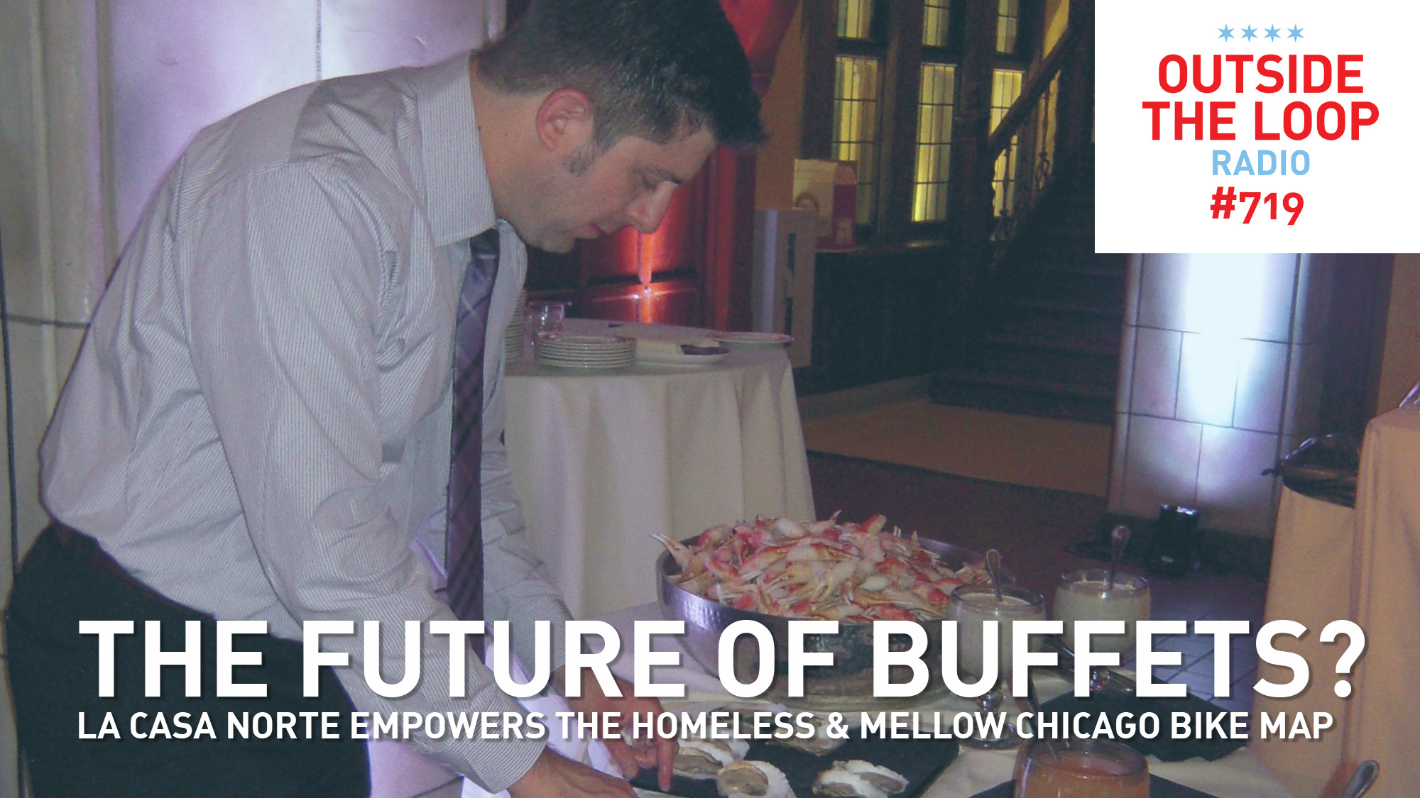 Mike Stephen enjoys a delicious seafood buffet while at a wedding in Cleveland.